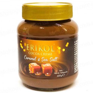 Erikol  Caramel & sea salt  Шоколадная паста с карамелью и морской солью 400г Бельгия